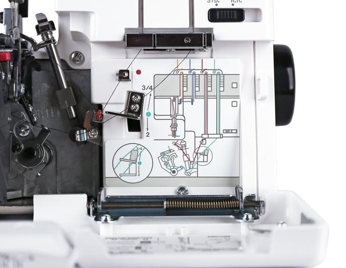 janome jubilee 60788 overlock n hmaschine komfort overlockmaschine 9688. Black Bedroom Furniture Sets. Home Design Ideas