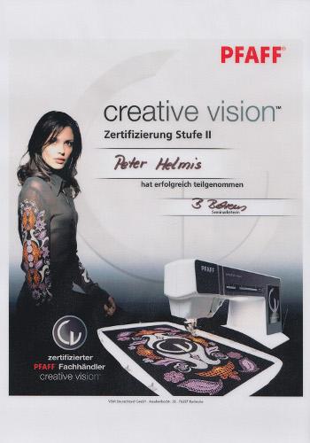 Zertifikat Pfaff Creative Vision Stuffe 2