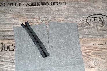 Reißverschluss einnähen Materialien Stoff und Reißverschluss