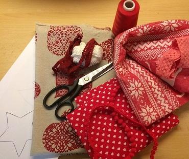 Benötigtes Material für Weihnachtsdeko