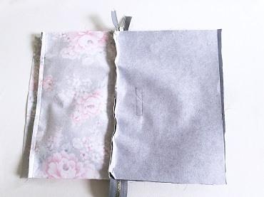 Verstärktes DIN A4 Stoffstück, der Länge nach gefaltet