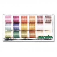 Madeira Cotona No.50 Multicolor Stickbox (18 Farben/ 200 m)
