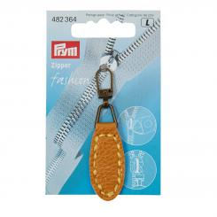Prym Fashion-Zipper Lederimitat (67 x 17 mm/ oval/ senf)