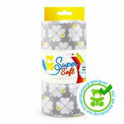 Kullaloo SuperSoft Plüsch SHORTY Prints (Klee/ grau/ 1 x 0,75 m)
