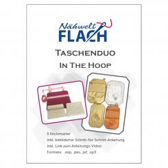Nähwelt Flach Stickmuster CD Taschenduo - In the hoop (5 Stickmuster)