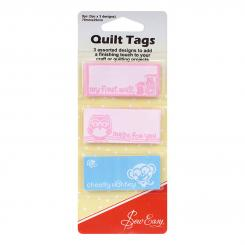 Sew Easy Quilt Labels (3 x 3 versch. Designs/ 6 x 2,5 cm)