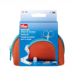 Prym Travel Box Nähset M (12 x 7,5 x 4,5 cm/ orange/ blau)