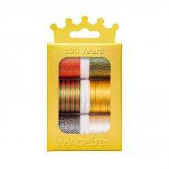 Madeira Rayon Multicolor No.40 Gold Crown Box (6 Farben/ 200 m)