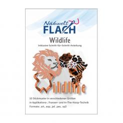 Nähwelt Flach Stickmuster CD Wildlife (10 Stickmuster)