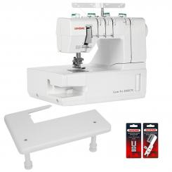 Janome Cover Pro 2000CPX inkl. Anschiebetisch + 2 Nähfüße