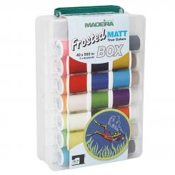 Madeira Frosted MATT No.40 Stickbox (40 Farben/ 500 m)