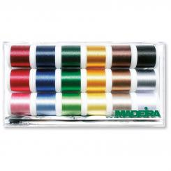 Madeira Polyneon No.40 Stickbox (18 Farben/ 400 m)