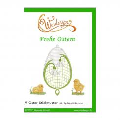 Windesign Stickmuster CD Frohe Ostern (9 Motive)