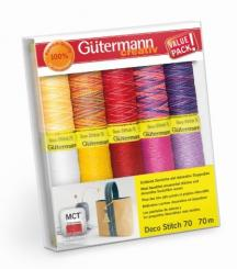 Gütermann Deco Stitch Nähfaden-Set-1 (10 Farben/ 70 m)