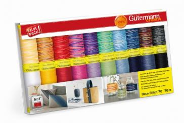 Gütermann  Deco Stitch Nähfaden-Set-1 (20 Farben/ 70 m)