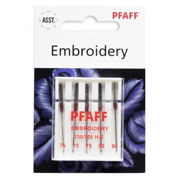 Pfaff Embroidery-Nadel Sortiment 75-90/ System 130/ 705 H-E/ 5 Nadeln
