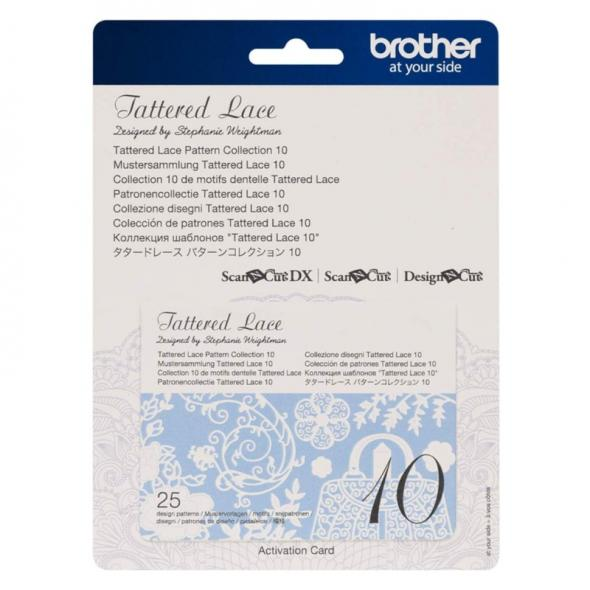 Brother Mustersammlung - Tattered Lace Nr. 10 - 25 Designs