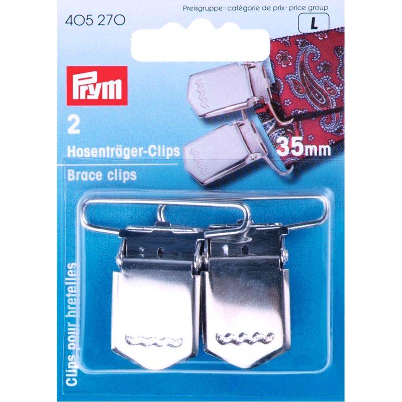 Prym Hosenträger-Clips 35mm silberfarbig 405270