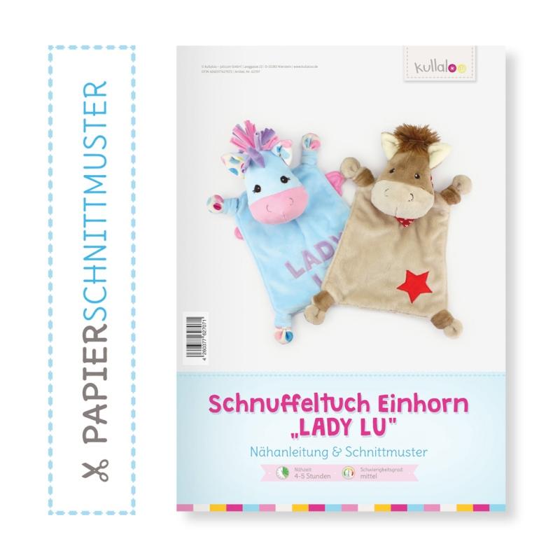 Kullaloo Print-Book Schnuffeltuch Einhorn/Pferd \