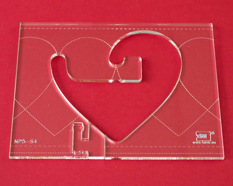Quilt-Lineal \'\'Herz groß\'\' (Plexiglas 5 mm/ Muster 10,2x10 cm ...