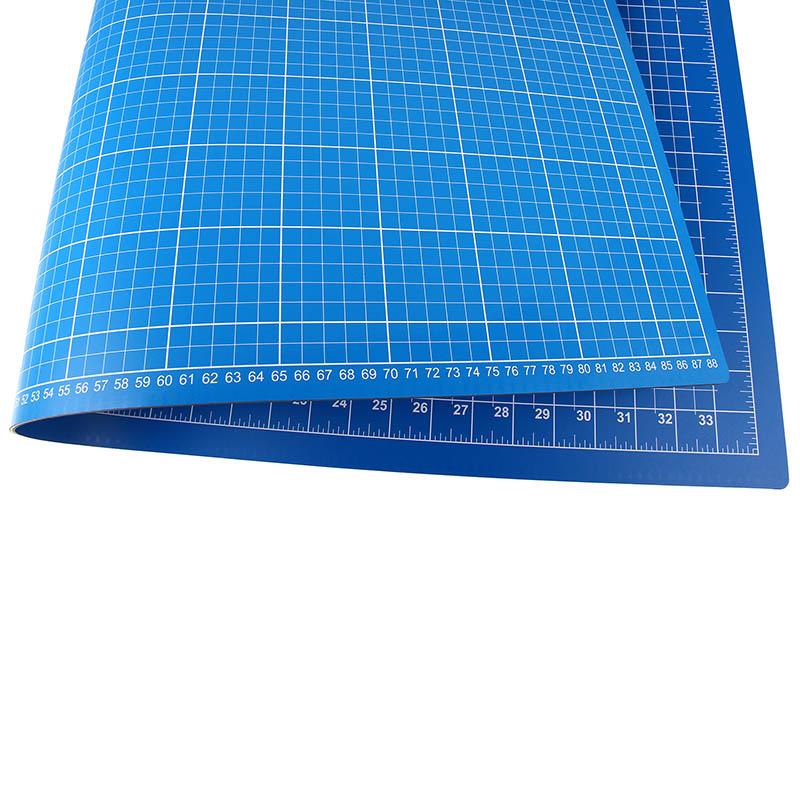 Schneidematte Blau Hellblau 90 X 60 Cm 36 X 24 Inch Nähwelt Flach