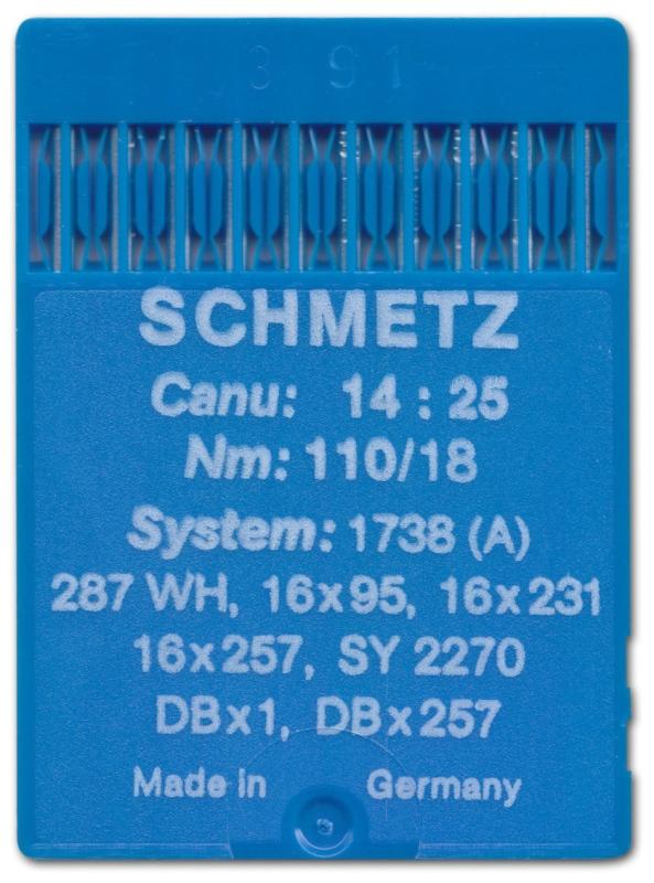 Nm 70   + Schmetz-Rundkolbennadel 134 R