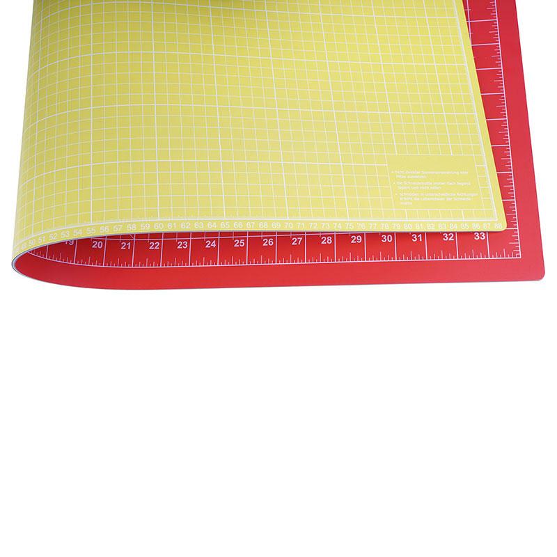 Schneidematte Rot Gelb 90 X 60 Cm 36 X 24 Inch Nähwelt Flach