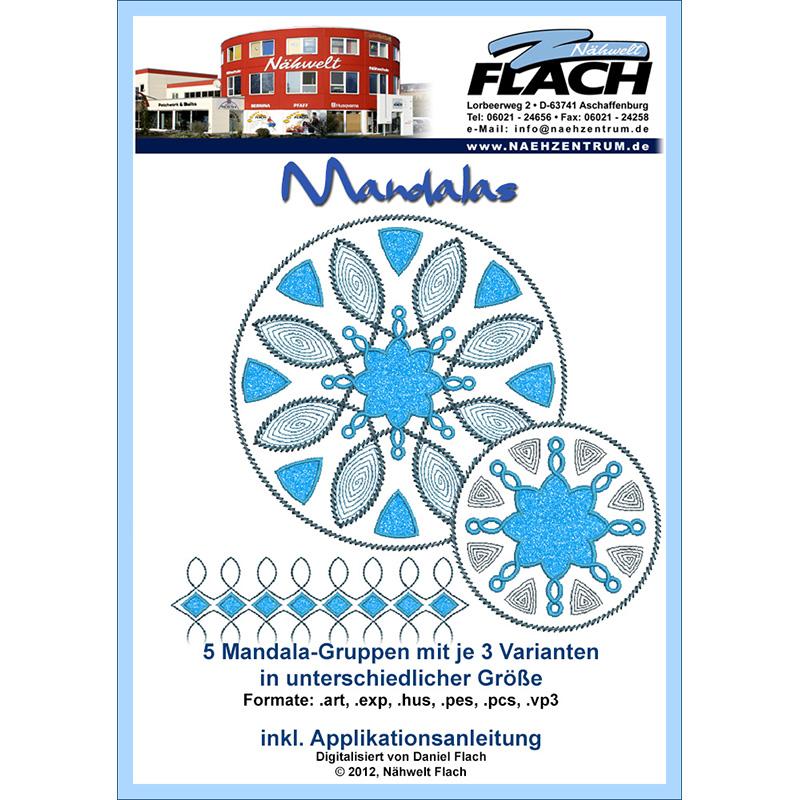 Nähwelt Flach Stickmuster CD Mandalas | Nähwelt Flach