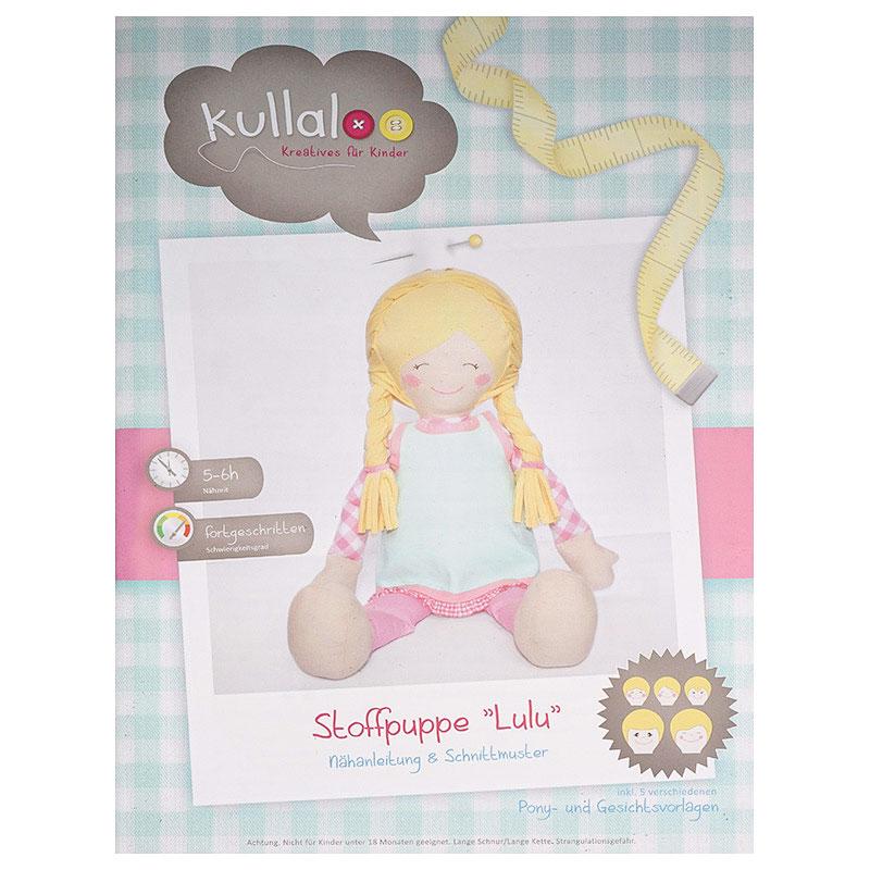 Kullaloo Stoffpuppe LULU + Kleid (Nähanleitung + Schnittmuster ...