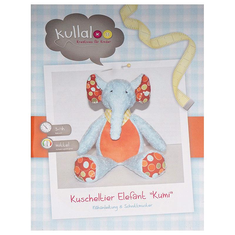 Kullaloo Kuscheltier Elefant KUMI (40 cm Nähanleitung) | Nähwelt Flach