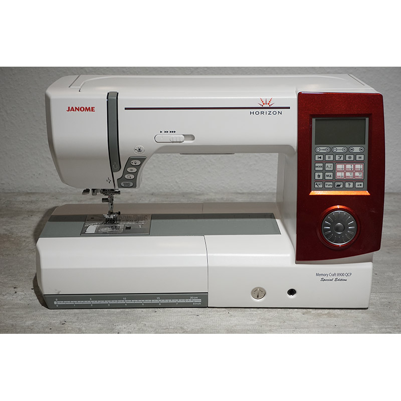Janome horizon memory craft 8900 qcp messemodell for Janome memory craft 9000 problems