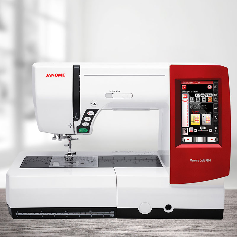 Janome memory craft 9900 messemodell n hwelt flach for Janome memory craft 9000 problems