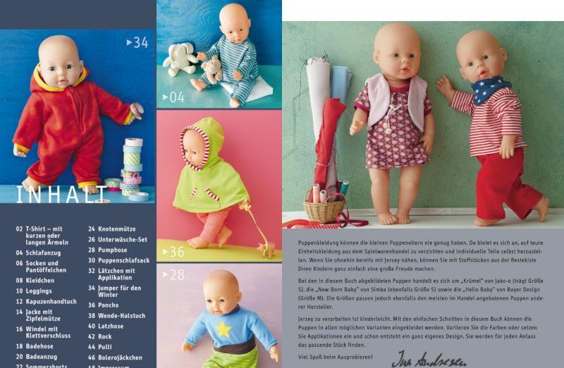 Topp Puppenkleidung nähen aus Jersey | Nähwelt Flach