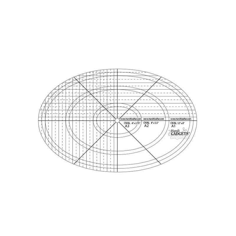 Handi Quilter Schablone Oval A | Nähwelt Flach