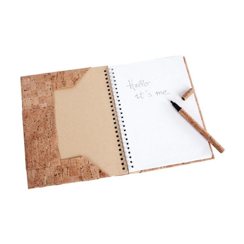 6 Teile Kork Bastelset mit Notizbuch und Kugelschreiber