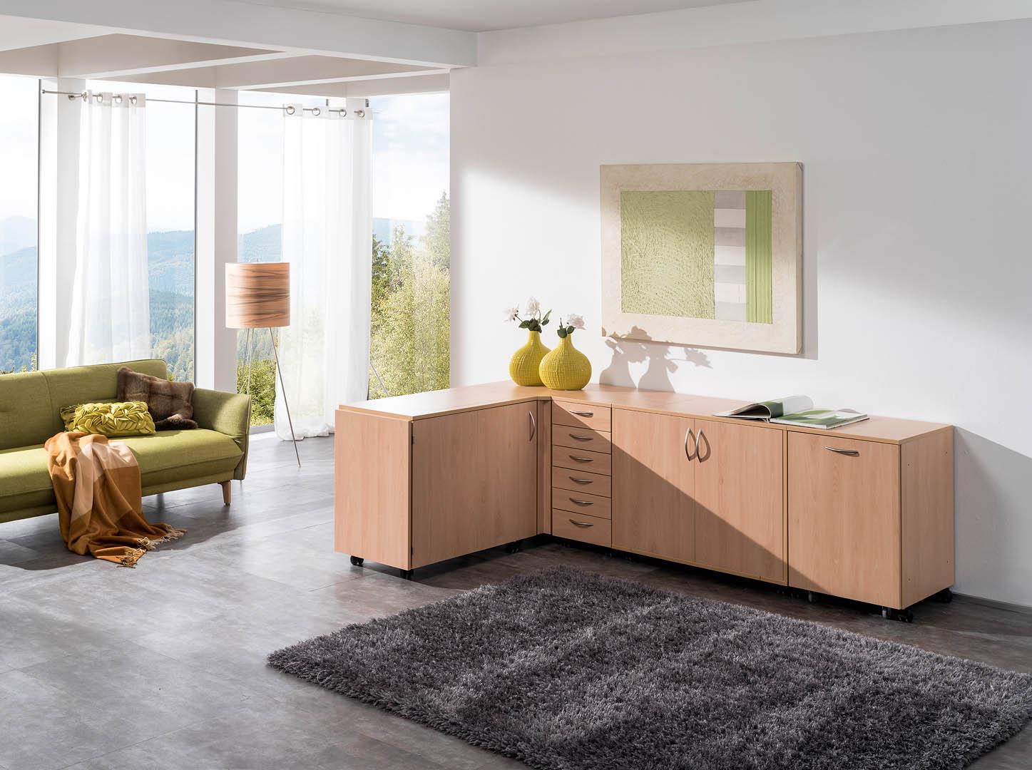 base klapp platte mit k sten mit neuem elektr easy softtech lift n hwelt flach. Black Bedroom Furniture Sets. Home Design Ideas